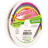 "Gray .019"" Econoflex 7-Strand Craft & Beading Wire"
